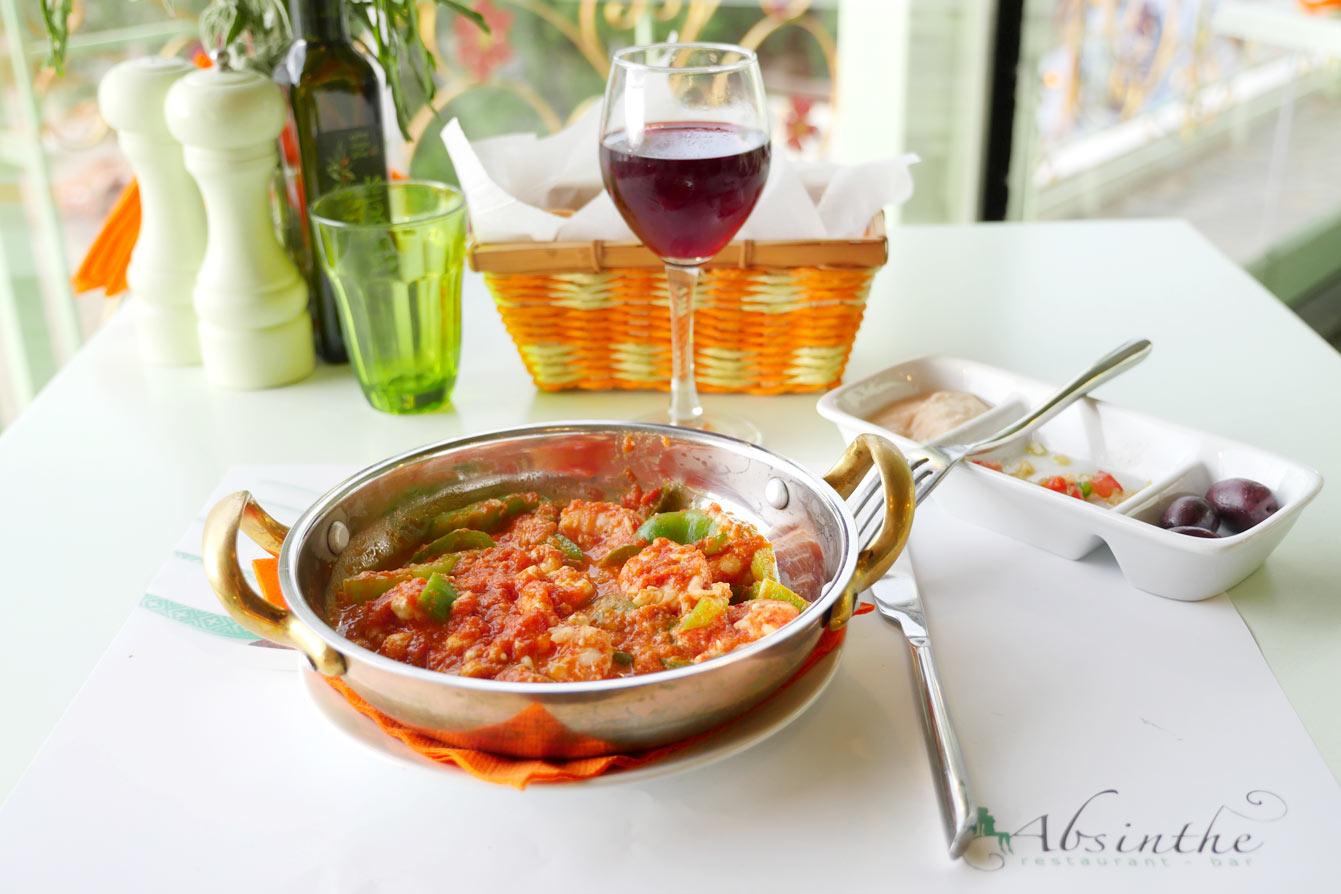 Restaurant Absinthe, Kamares Sifnos, Grèce