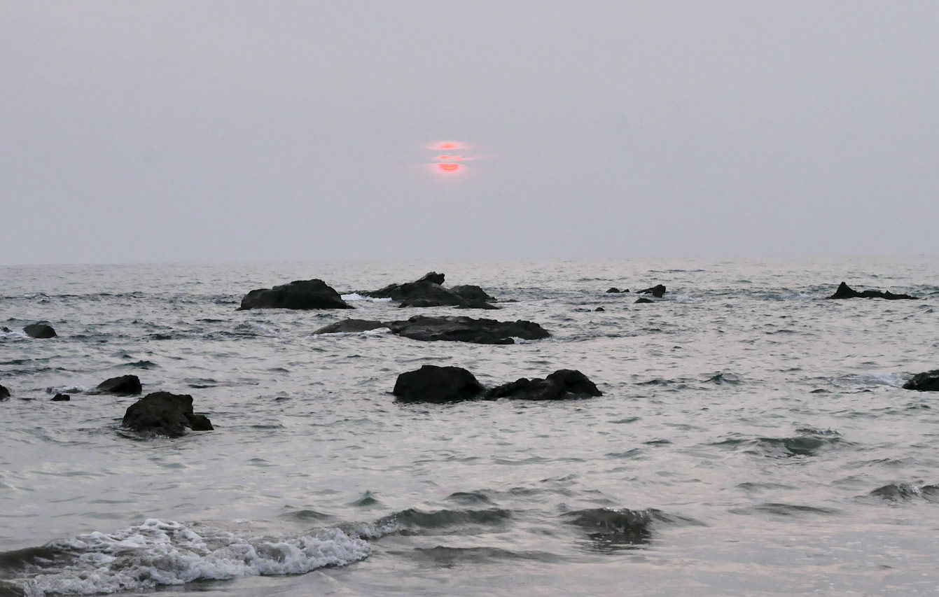 Ngapali beach, sunset