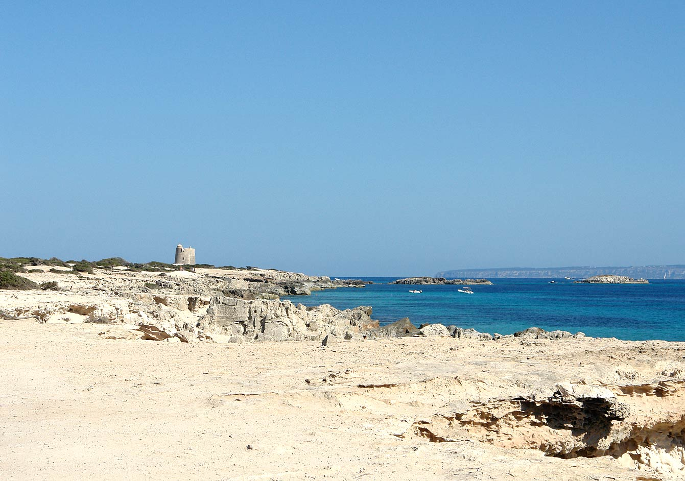 The pirate watch tower, Las Salinas, Ibiza