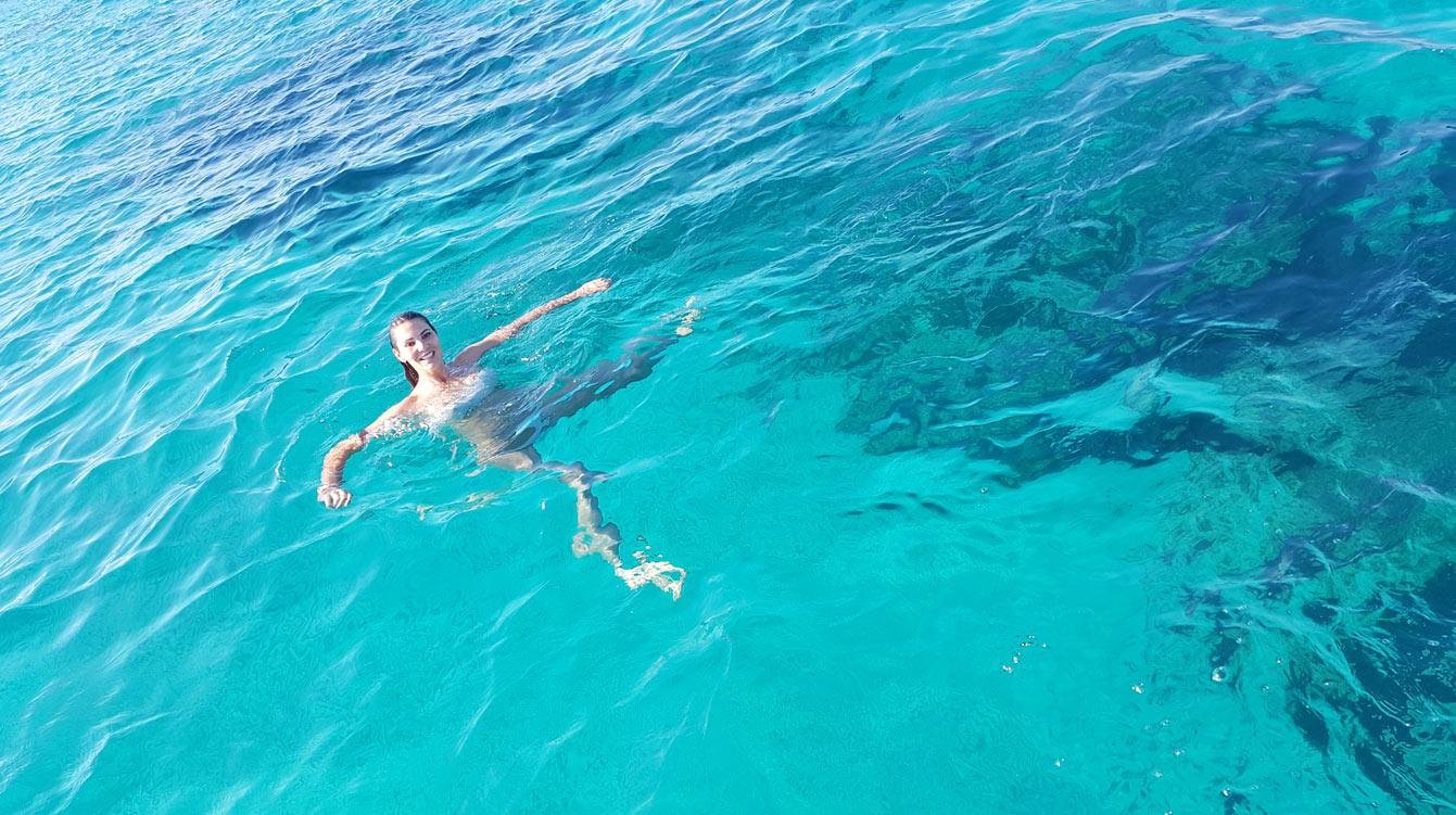 tour de catamaran d'Ibiza à Formentera