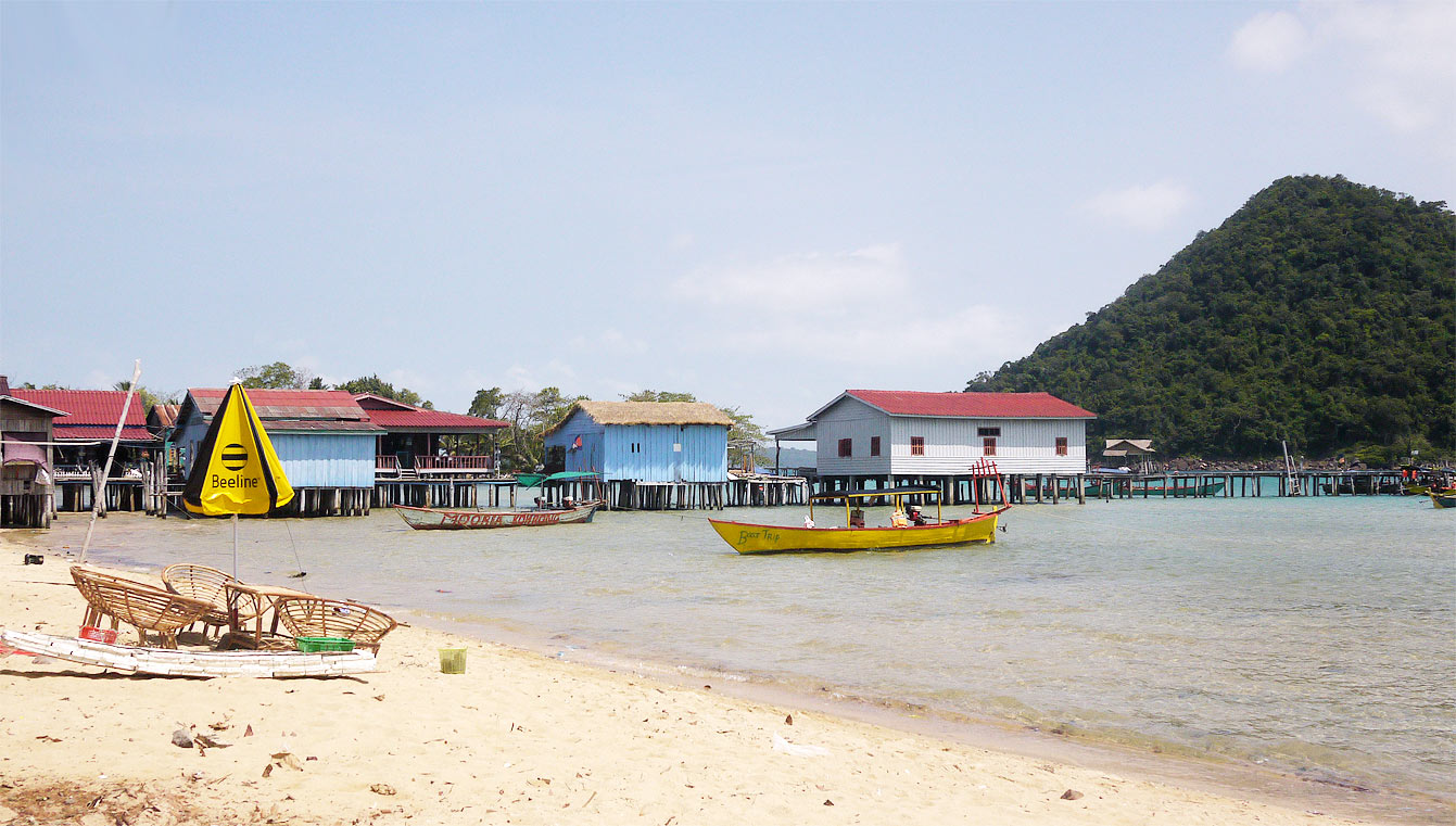 M'pay Bai village, Koh Rong Samloem, Cambodge
