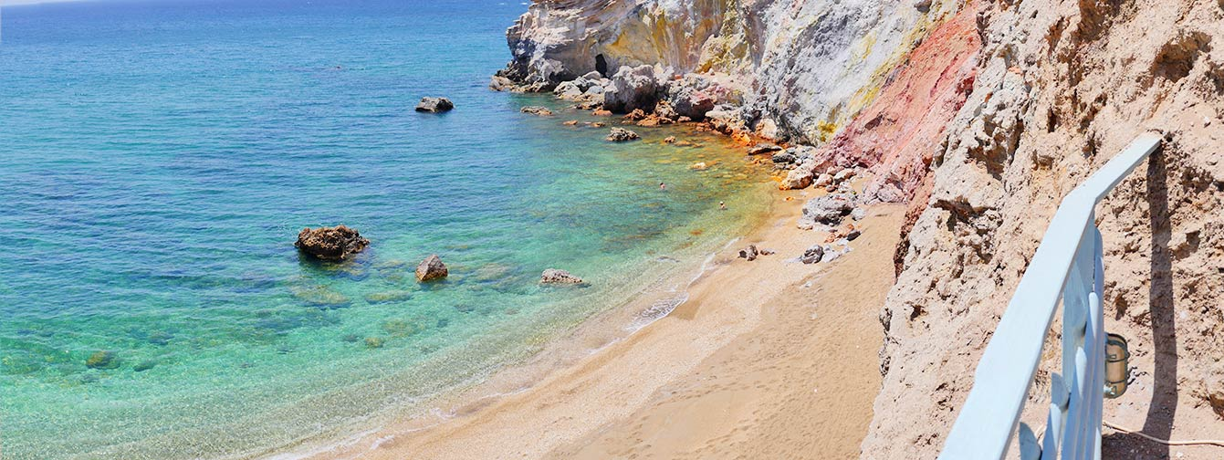 Paliochori beach, Milos, Grèce
