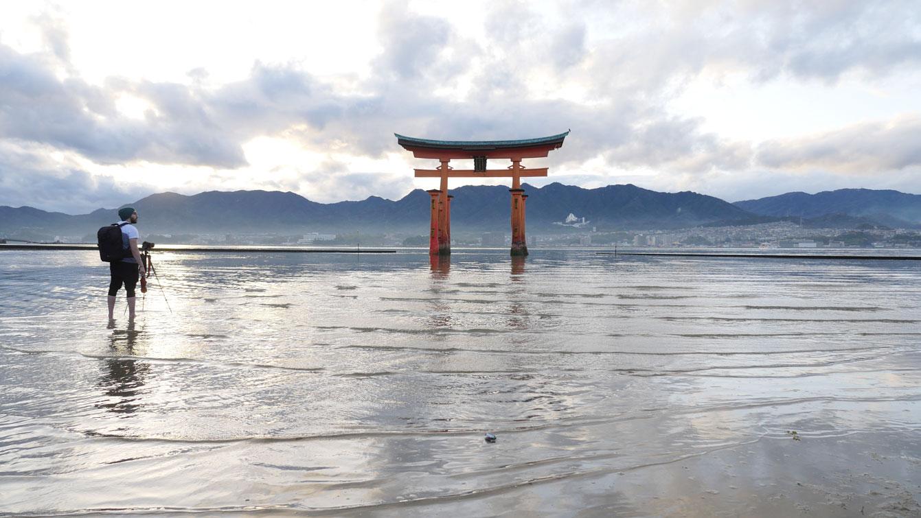Torii flottant, Île d'Itsukushima (Miyajima), Japon