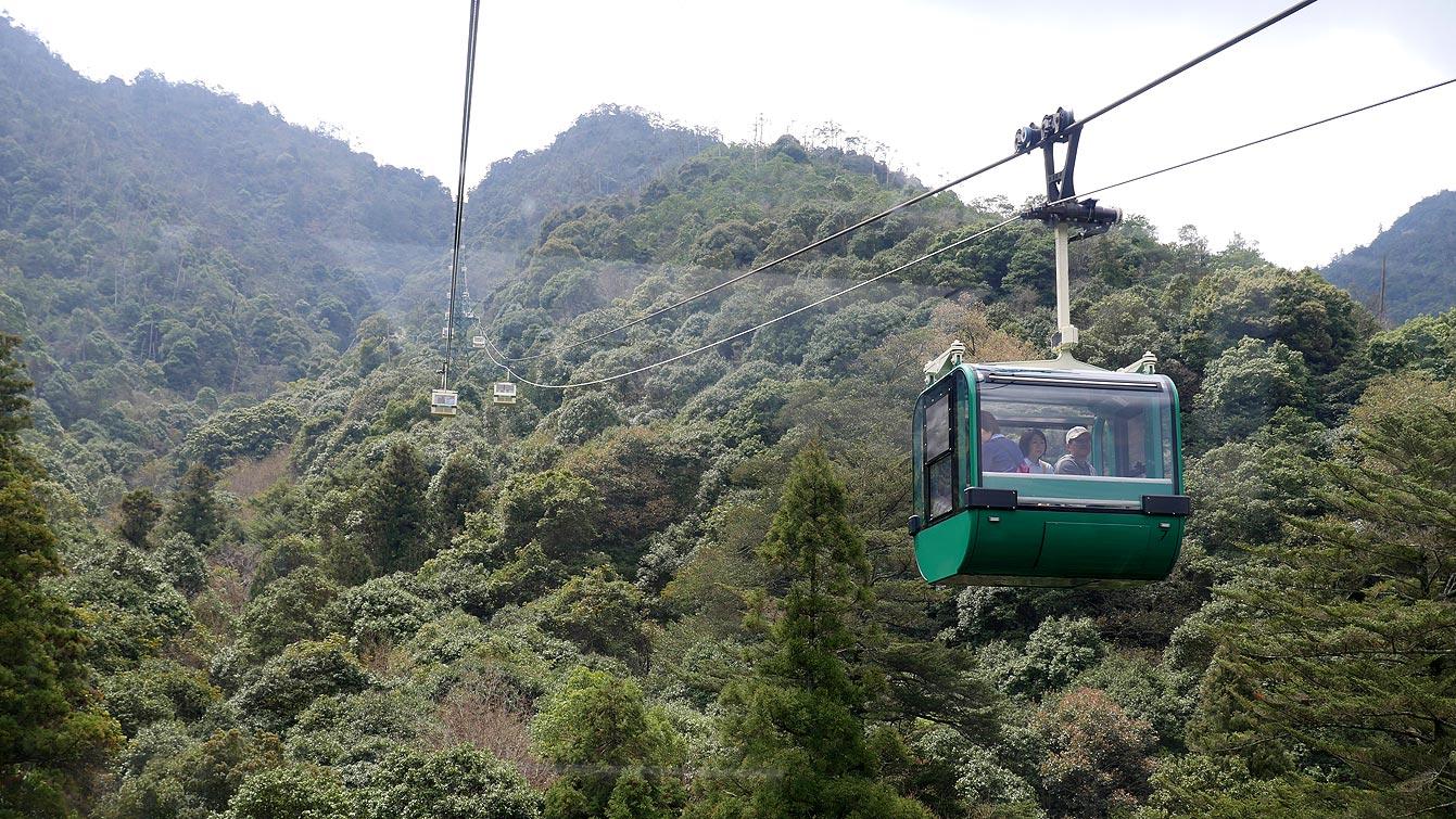 Le téléphérique du mont Misen, Miyajima
