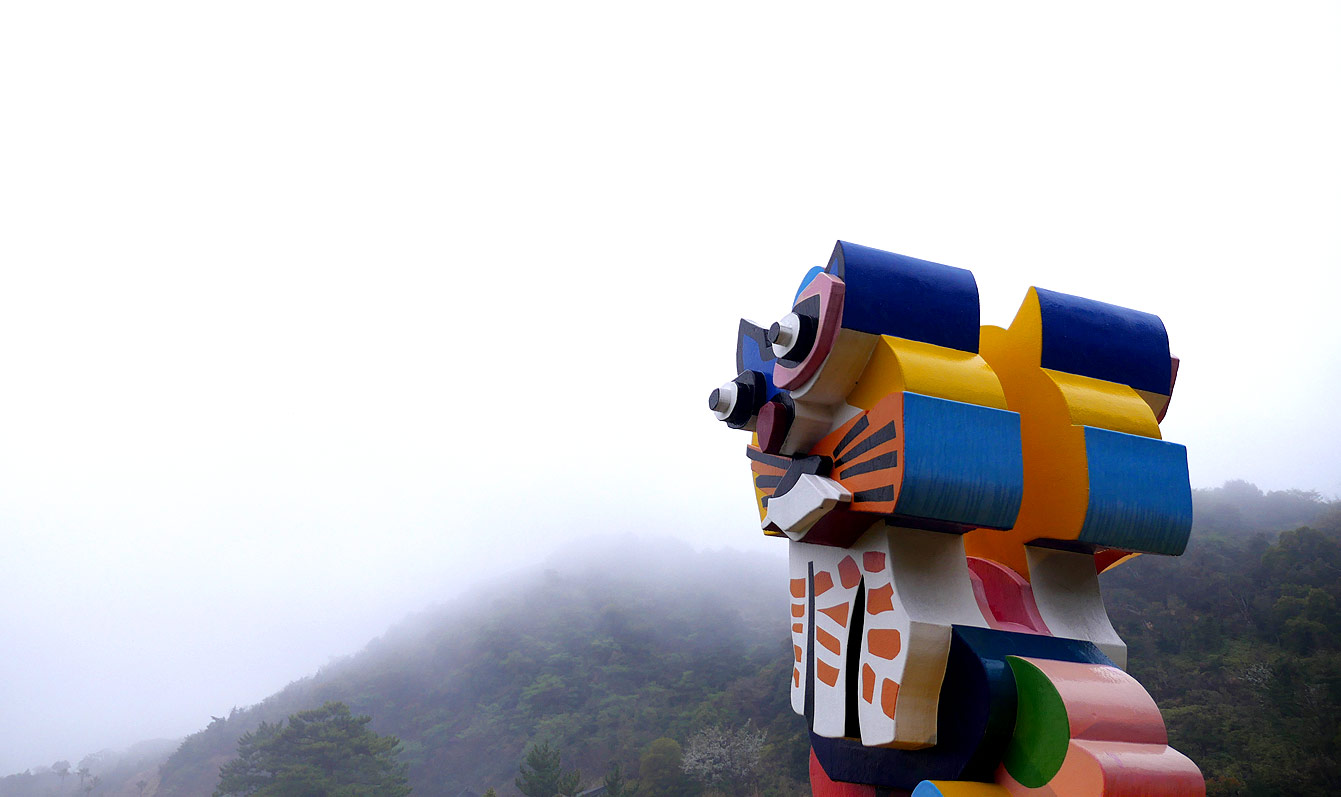 « Frog and Cat » de Karel Appel, Naoshima