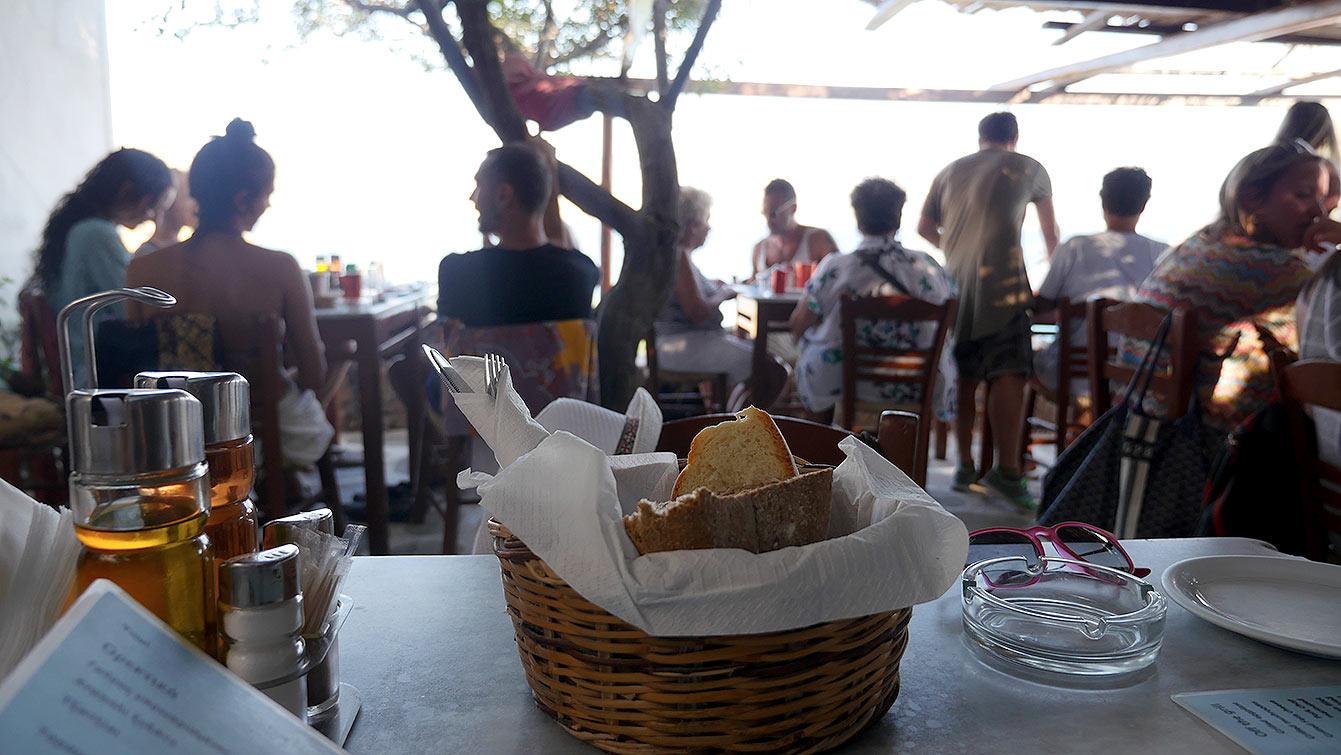 Le restaurant Kiki's Tavern (Mykonos)