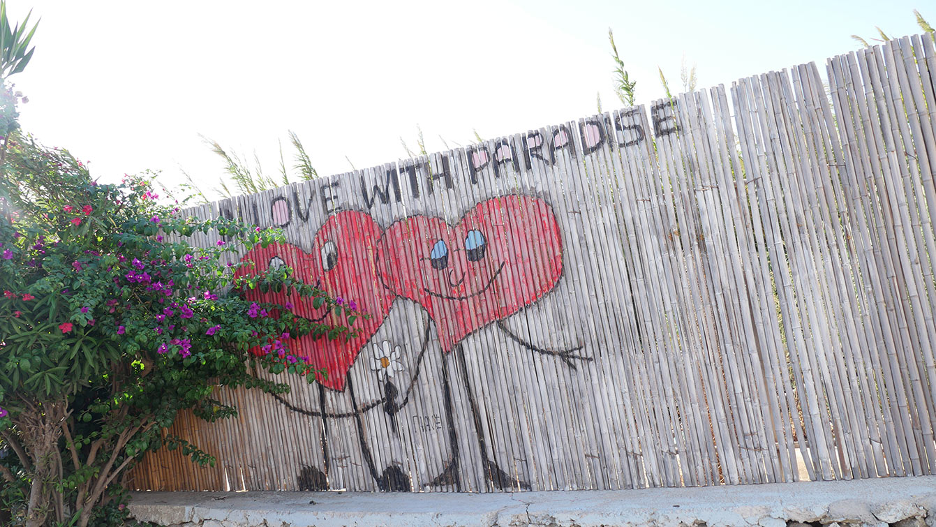 streetart au Paradise beach camping