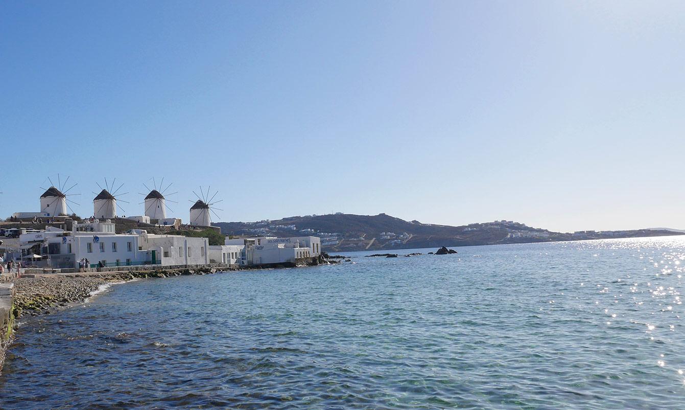 Chora, Mykonos, Grèce, les moulins