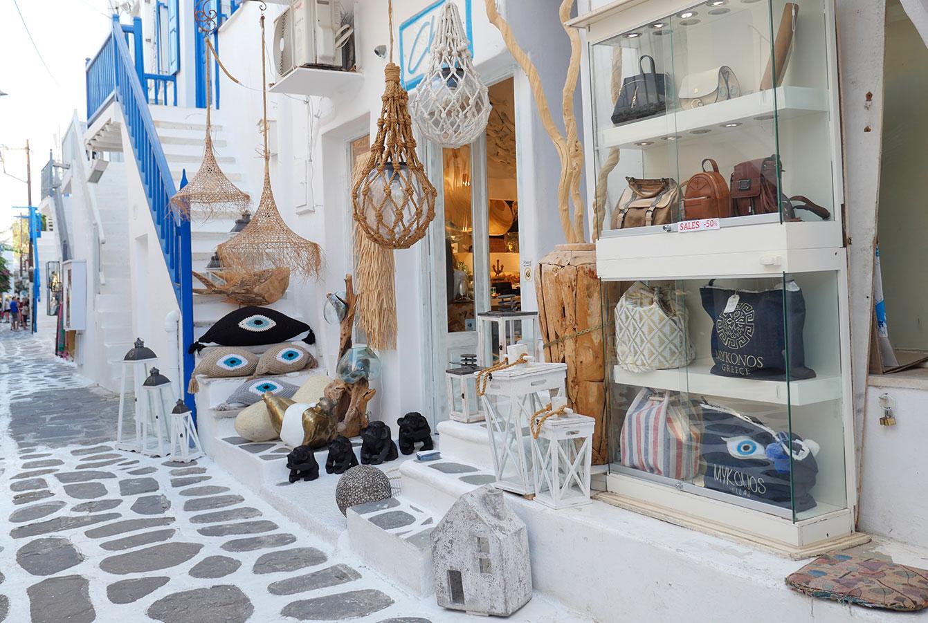 Boutiques à Mykonos