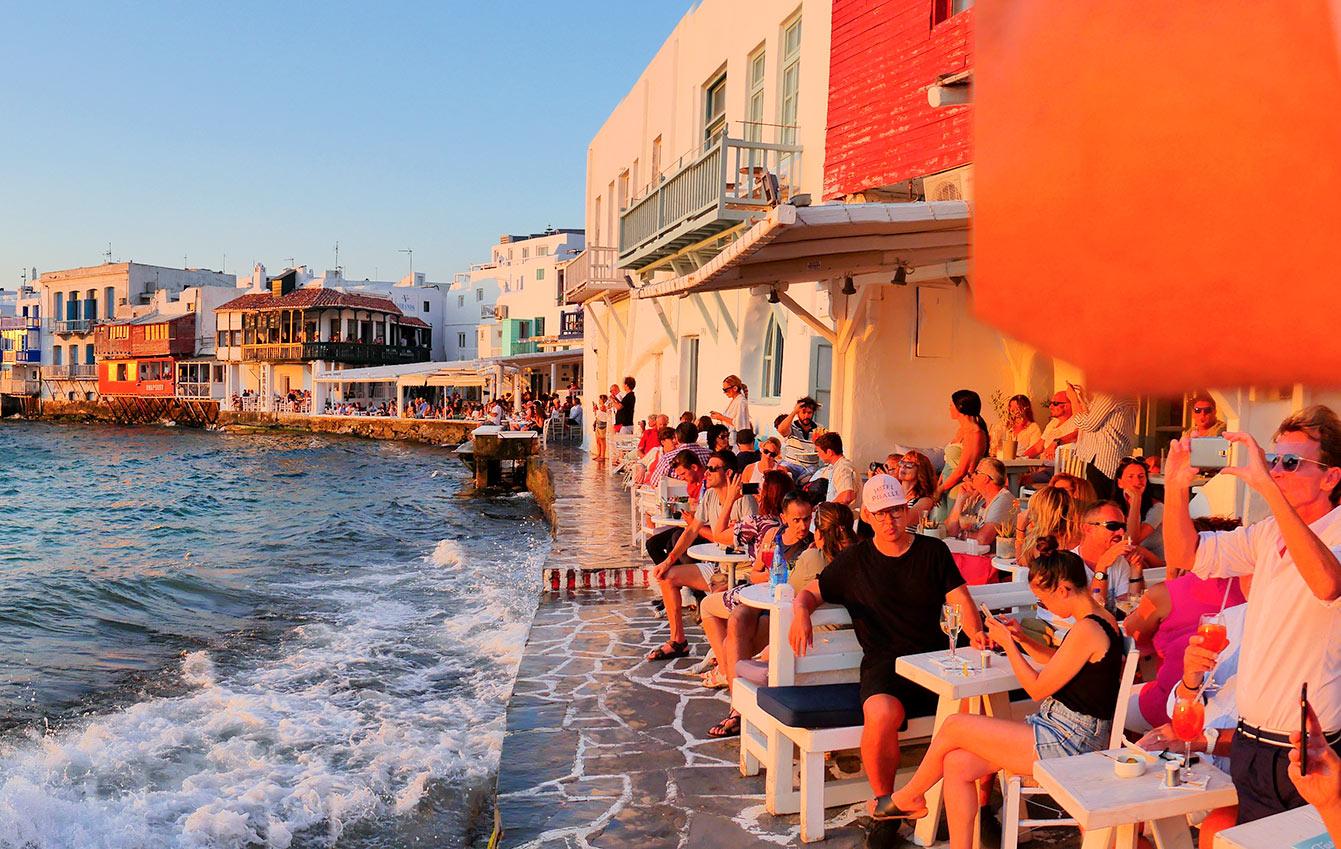 Le Somptueux Coucher De Soleil 224 La Petite Venise Mykonos
