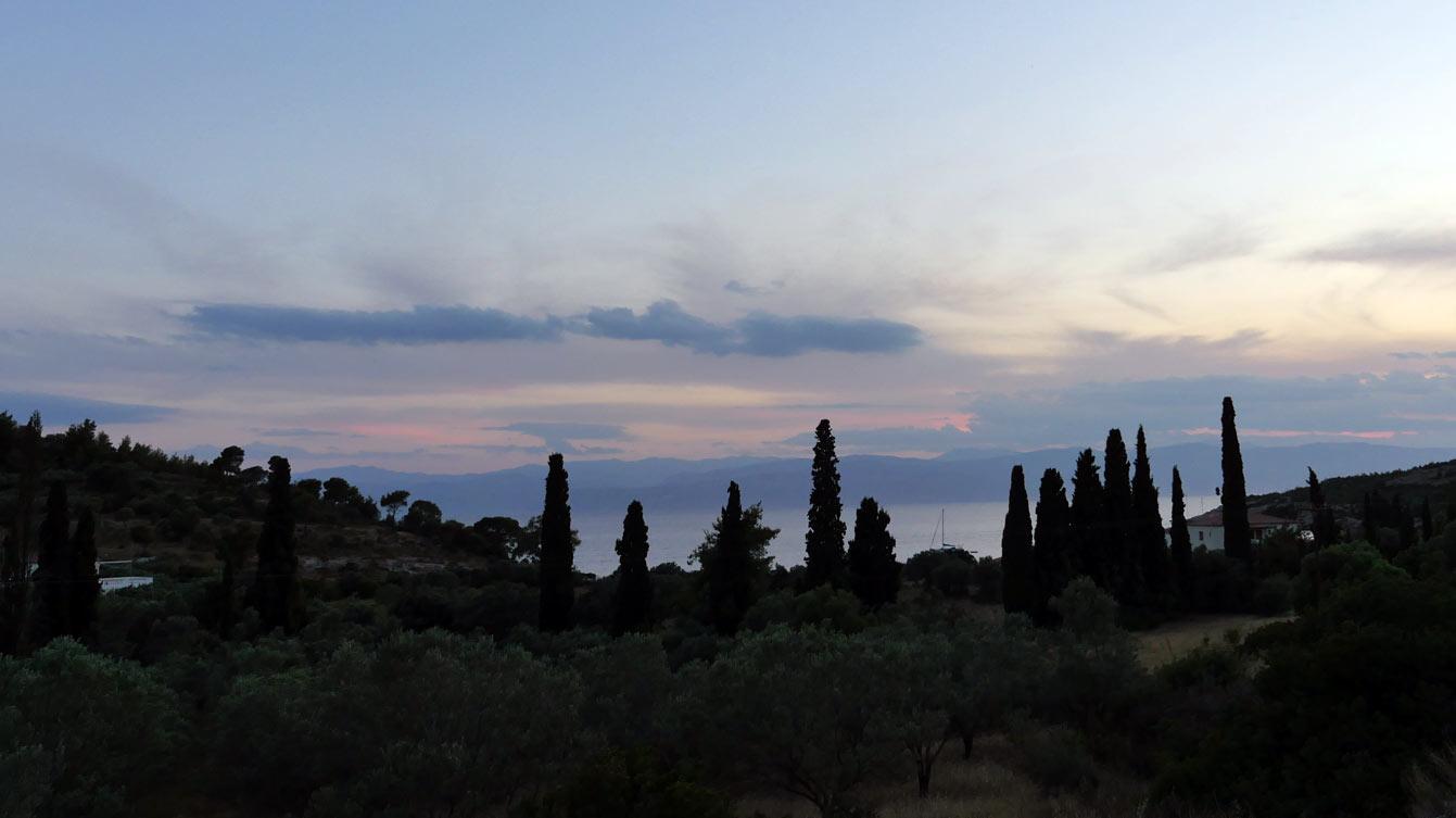 Coucher de soleil à Spetses