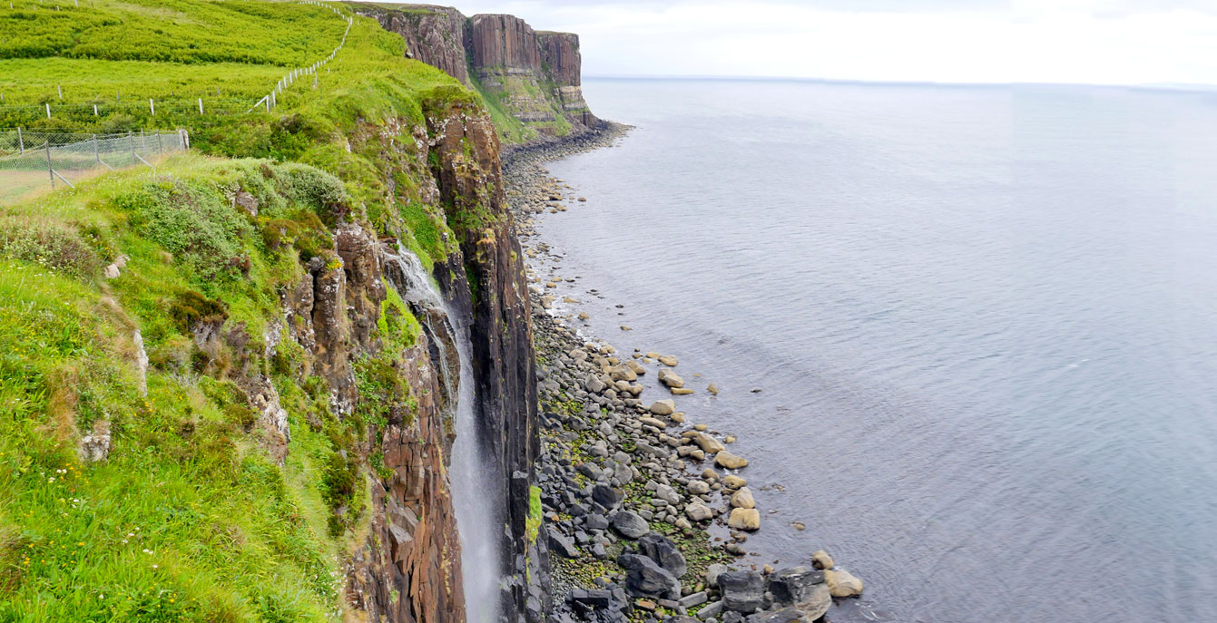 Kilt rock et lescascades Mealt Falls